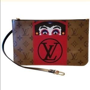 👺KABUKI👹 Japanese Louis Vuitton wristlet